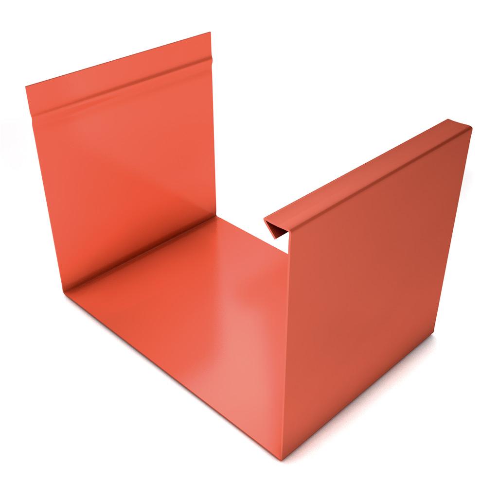 Canalón rectangular